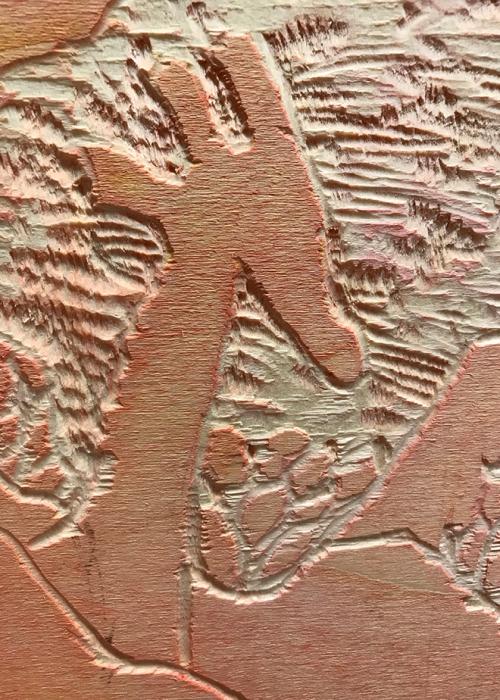 Holzstock | Ausschnitt